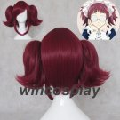 BLACK BUTLER Maylene Short Dark Magenta Anime Cosplay Hair Wig mey rin cosplay wig