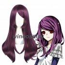 Tokyo Ghoul Kamishiro Rize Tieria Erde Purple Long Straight Cosplay Full Wig