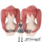 DARLING in the FRANXX MIKU Cosplay Wig Cilp on Double Ponytail halloween female cosplay wig