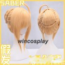 Fate/stay night Arturia Pendragon Saber Wig fate zero saber cosplay wig adult size