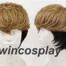 Killing Stalking Oh Sangwoo Wig Mixed Brown Black Hair Cosplay Wig halloween male cosplay wig