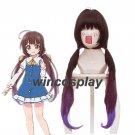 Ryuuou no Oshigoto! Hinatsuru, Ai Brown Mix Purple Long Ponytail Cosplay Wig
