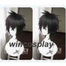 Black Clover Yuno Black Short Straight Fluffy Cosplay Wig Heat Resistant Wigs