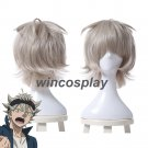 Black Clover Asta Gray Short Straight Fluffy Cosplay Wig Heat Resistant Hair Wig