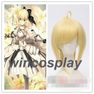 fate stay night saber lily cosplay wig Altria Pendragon cosplay wig