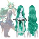 "League of Legends LOL Soraka Star Guardian 40""Long Wavy Green Cosplay Full Wigs"