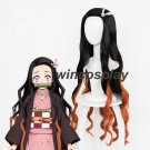 Kimetsu no Yaiba Kamado Nezuko Cosplay Wigs Long Hair Wig