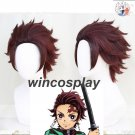 Anime Demon Slayer: Kimetsu no Yaiba Kamado Tanjirou Cosplay Gradient Hair Wig