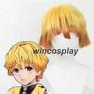 Demon Slayer: Kimetsu no Yaiba Agatsuma Zenitsu Cosplay Wig Short Yellow Hair