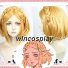 The Legend of Zelda Breath of the Wild Princess Cosplay Wig Short Golden Hair