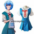 Anime Neon Genesis Evangelion EVA Ayanami Rei Halloween Cosplay Suits Asuka Costume School Uniform