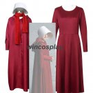 The Handmaid's Tale Offred Handmaid Cosplay Costume Hooded Robe Gown Dress custom made