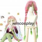 Demon Slayer Kimetsu no Yaiba Kanroji Mitsuri Cosplay Wig Mixed ColorBraid Hair
