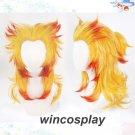 Kyoujurou Cosplay Wig Demon Slayer Kimetsu no Yaiba Rengoku Kyoujurou Cosplay Wig Blonde Red Hair