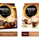 {COMBO) NESCAFE GOLD DARK & CREAMY LATTE PREMIX COFFEE