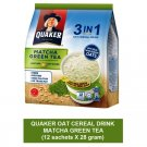 QUAKER OAT CEREAL DRINK 3-IN-1 MATCHA GREEN TEA flavor