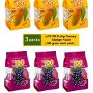 (6 PACKS) COCOALAND LOT 100 FRUITY GUMMY 150g - MANGO & BLACKCURRANT