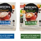 (2 packs) NESCAFE LATTE CARAMEL & HAZELNUT PREMIX COFFFE