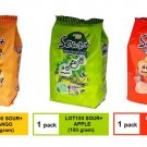 [3 PACKS]  COCOALAND LOT 100 SOUR+ FLAVOURED GUMMY 100gram - MANGO APPLE ORANGE