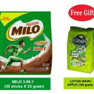 NESTLE MILO ACTIV-GO 3-IN-1 CHOCOLATE MALT DRINK (30 sticks)