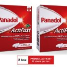 (2 PACKS) PANADOL ACTIFAST 500mg PARACETAMOL 20 TABLETS for FAST RELIEVE PAIN