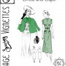 "1930's Dress and Cape (B38"") [VSV #38001] PDF sewing pattern"