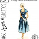 "1950's Drop-waist summer dress (B34"") [VSV #53001] PDF sewing pattern"