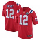 Men's New England Patriots Tom Brady Red Super Bowl LIII Game Jersey