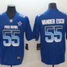 Men's NFC Dallas Cowboys Leighton Vander Esch Blue 2019 Pro Bowl Game Jersey