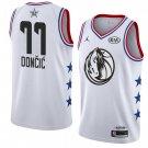 Men's Mavericks #77 Luka Doncic White 2019 All Star Basketball Jersey