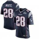 Men's New England Patriots James White Navy Super Bowl LIII Game Jersey