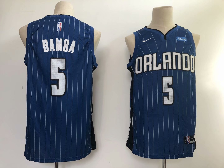 Men's Orlando Magic Mohamed Bamba Blue Basketball Jersey Emb