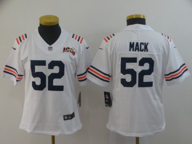 designer fashion d9542 98cde Women's Chicago Bears Khalil Mack White 2019 Limited Jersey 100th Season  Classic