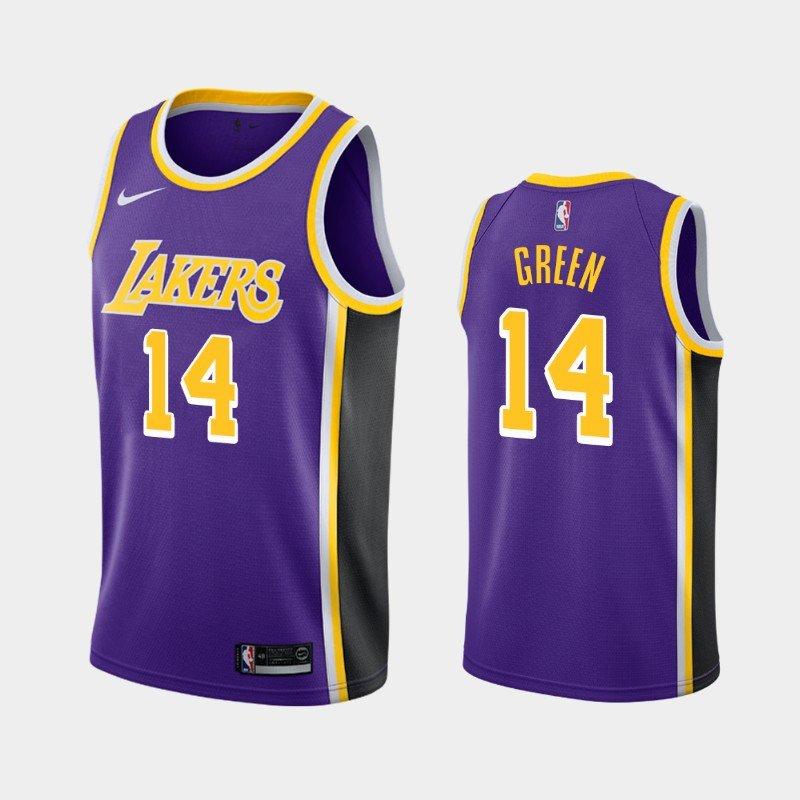 Men's Los Angeles Lakers #14 Danny Green Purple Statement Jersey