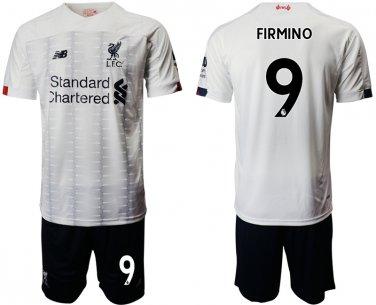 best value 644b1 20e28 2019 2020 Men's Liverpool Roberto Firmino Away White Jersey Shorts Sets