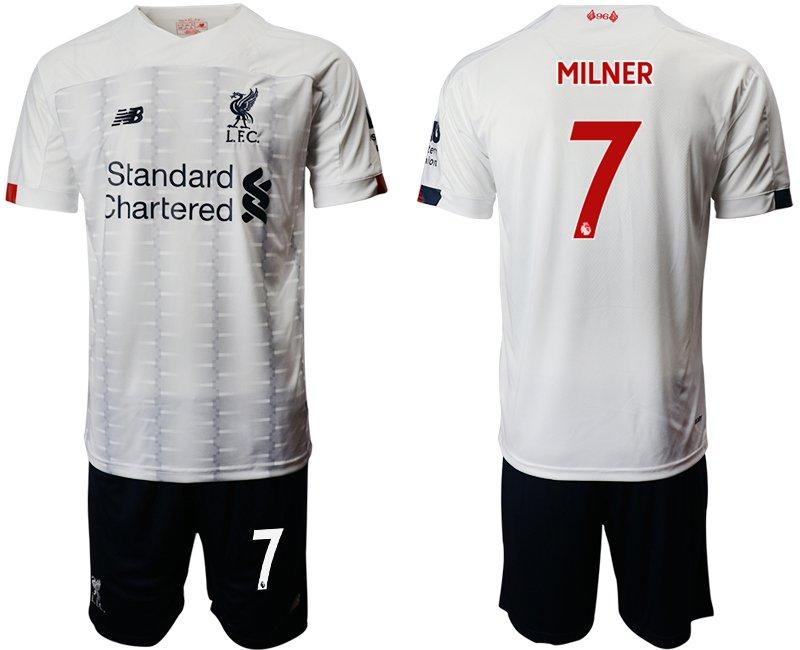 the best attitude fdd23 ec1dd 2019 2020 Men's Liverpool James Milner Away White Jersey Shorts Sets