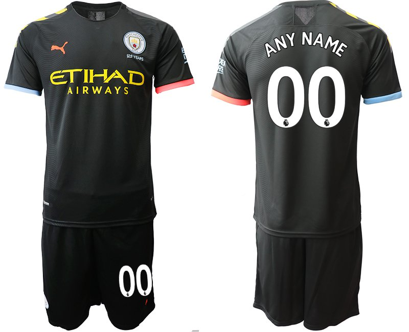 low priced cbe81 dd995 2019 2020 Men's Manchester City Away Black Custom Jersey Shorts Sets