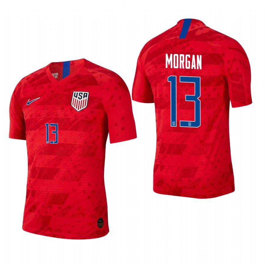 online retailer 5f5f8 03c72 Men's US Red Away Alex Morgan USWNT Soccer Jersey 2019 World Cup