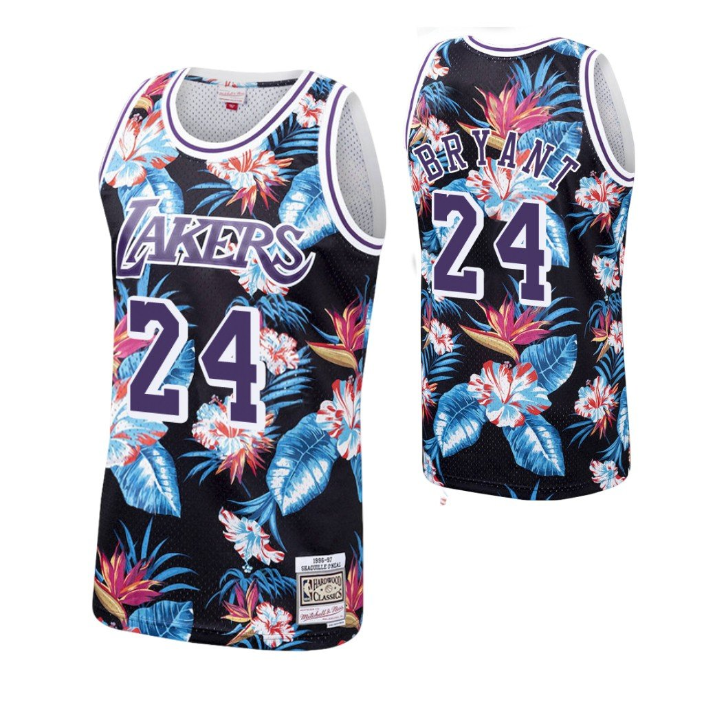 Men's Los Angeles Lakers Kobe Bryant Floral Fashion Throwback ...