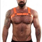 Sparta's Orange Harness for gay or straight men sexy harness latex imported from italy