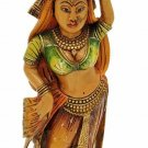 Hand Carved Solid Wooden Painted Rajasthani Ladies