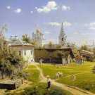 Decoration Poster.Moscow Courtyard by Polenov art painting.Home Room decor.11346