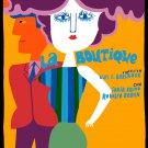 Movie Poster for film LA BOUTIQUE.Fashion store.Colorful sexy Room art decor