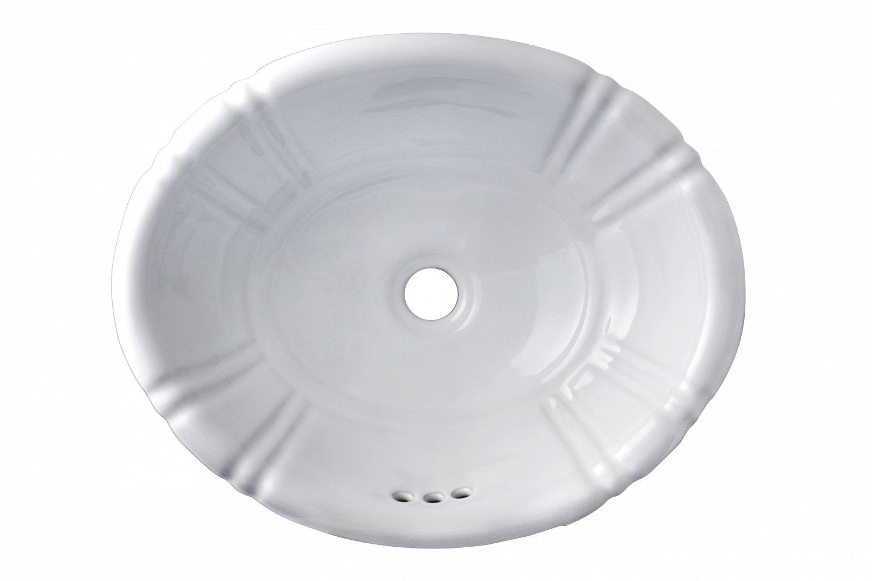 Oval Overcounter White