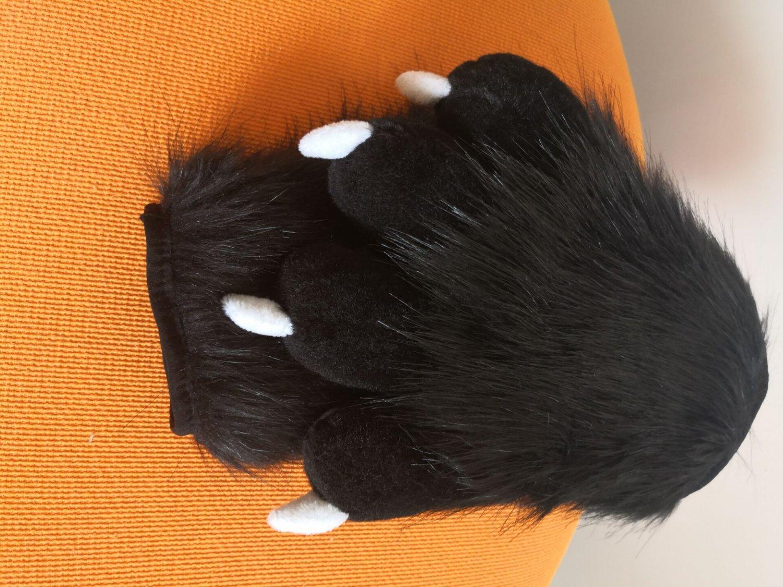 Black Fursuit Paws,Fursuit Handpaw,Furry Handpaw,Fursuit Fandom Hands,Fursuit Hand with Pads