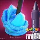 Wacom Pen Holder Stylus Stand Intuos / Cintiq - Wachibi: Shark Surprise - Purple