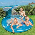 Whale Spray Pool  For Kids 82 X 62 X 39 Size Outdoor Waterfall For Ages 3+ Blue