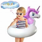 Ncknciz Unicorn Pool Floats, Swimming Ring for Kids, Inflatable Swim Tube, Pool