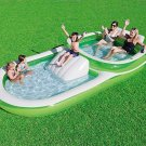 Bestway H2OGO! Two-In-One Wide Inflatable Family Outdoor Pool, Features Dual Poo