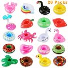 HLXY Inflatable Drink Holders 20 Packs Swim Drink Floats Coasters Summer Pool Be